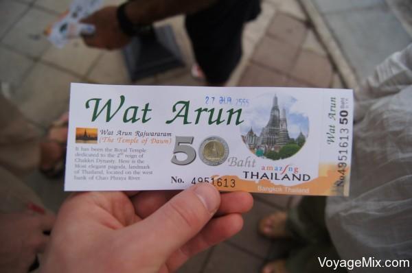 Билет в Wat Arun